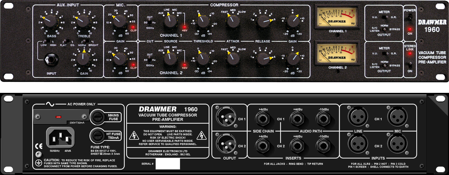 Drawmer Electronics 1960 Microphone Preamplifier With Tlc251 See A Larger Image Of The