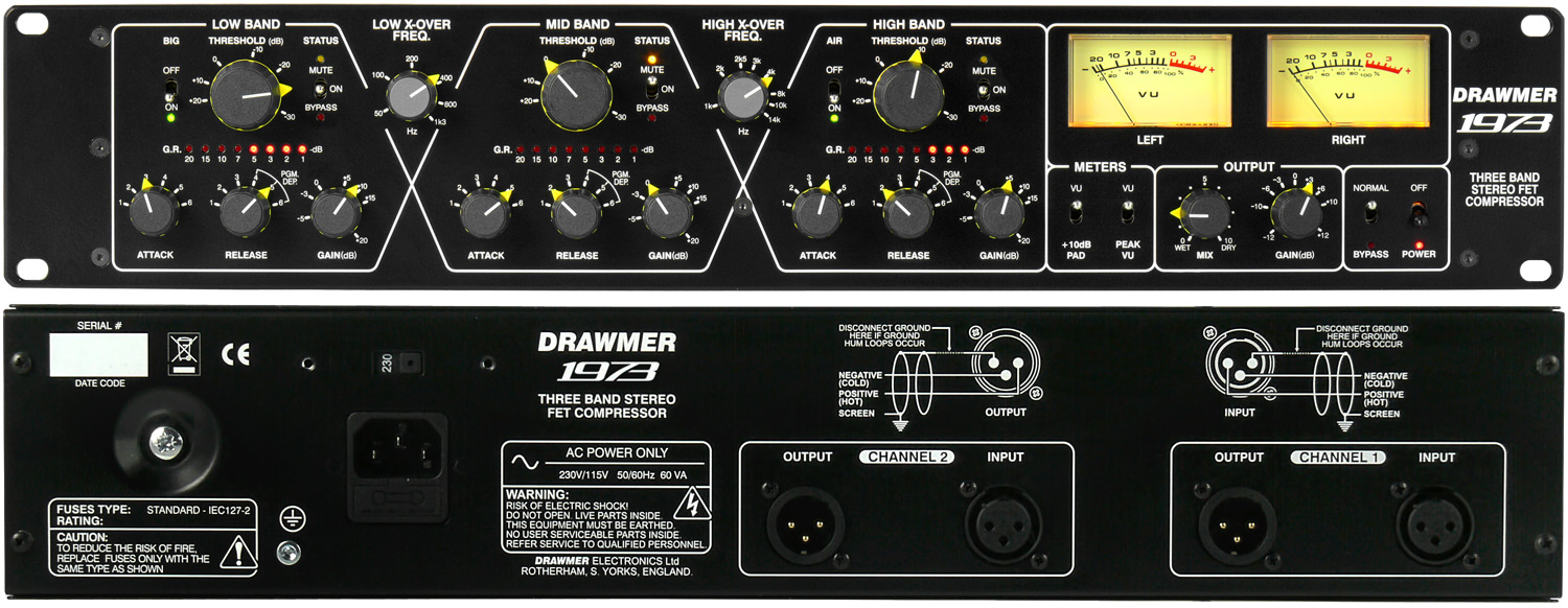 Drawmer Electronics 1973 Three Band Stereo Fet Compressor
