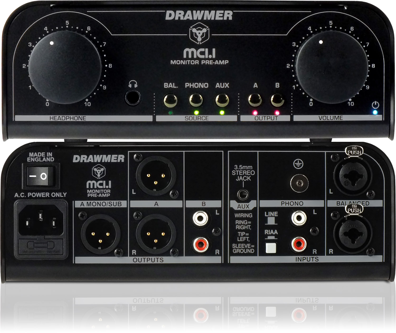 Drawmer Electronics Mc11 Monitor Preamp Vacuum Tube Headphone Amplifier Circuit Diagram See A Larger Image Of The