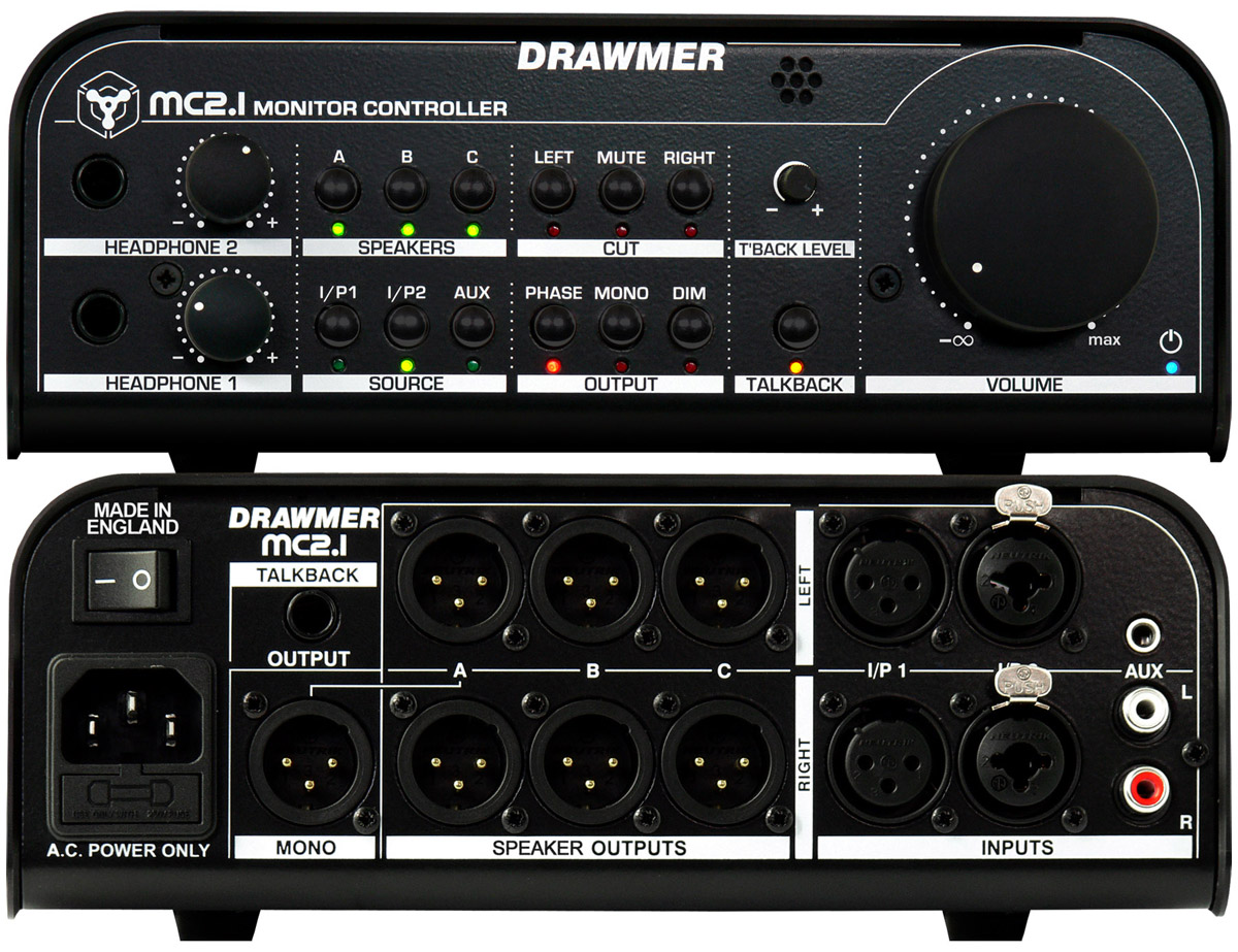 Drawmer Electronics Mc21 Monitor Controller Circuits Headphone Amp See A Larger Image Of The