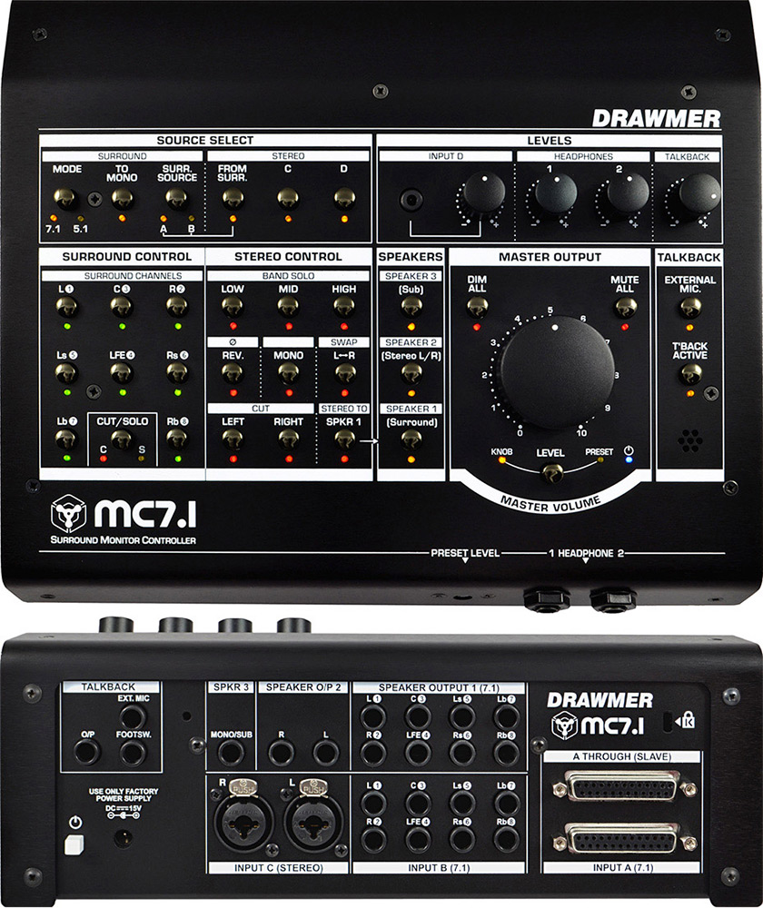 Drawmer Electronics Mc71 Surround Monitor Controller Wiring Diagram Home Theater Amplifier 5 1 See A Larger Image Of The
